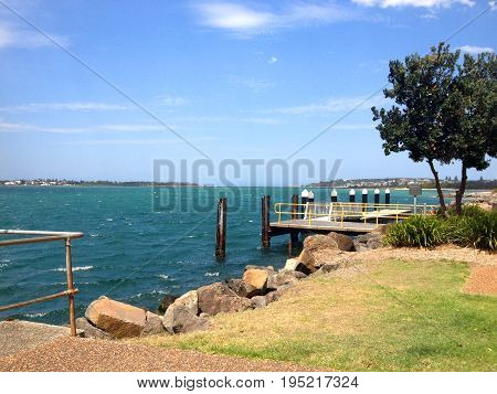 Scene Of Swansea, Lake Macquarie Nsw Australia.