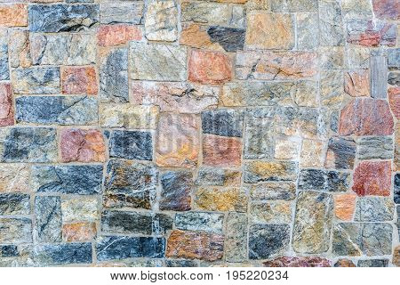 colorful stone wall texture background natural color