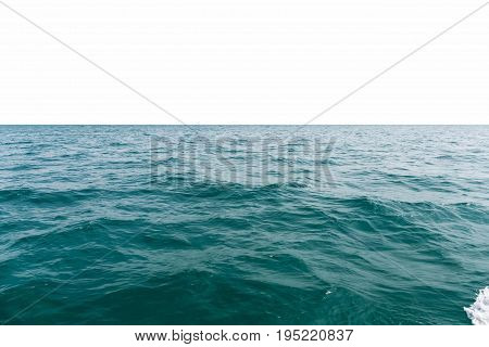 sea water background isolated on white with clipping path