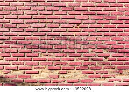 background of old vintage red brick wall