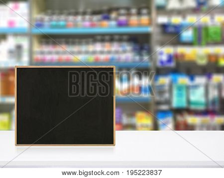 Pharmacy Counter For Display Or Montage Your Products Healthcare Concept