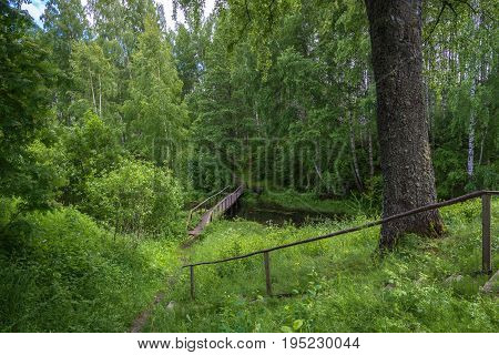The Wooden Bridge Leading To The Holy Spring Of Mary Magdalene.