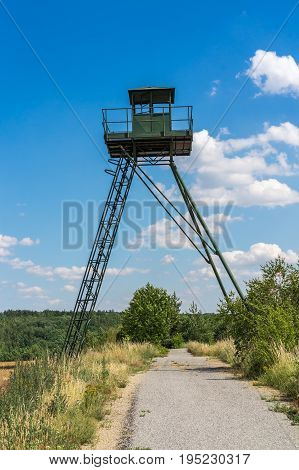 Remains Of Iron Curtain With Watchtower