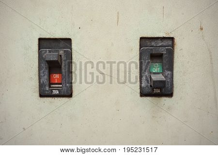 old on off button switch control in factory