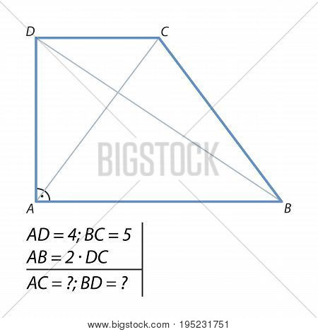 the problem of finding a diagonal trapezoid