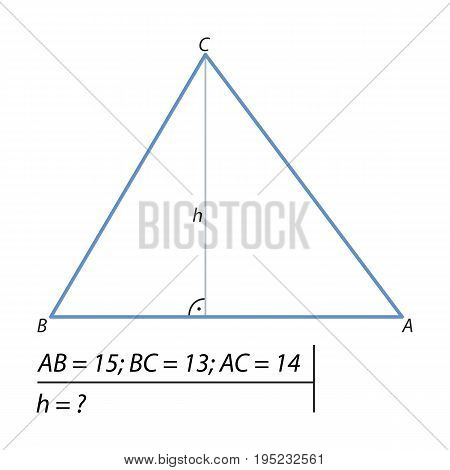 The task of finding the height of the triangle