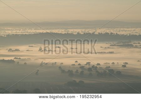 Early morning view from Mount Major at Dookie near Shepparton in Victoria Australia