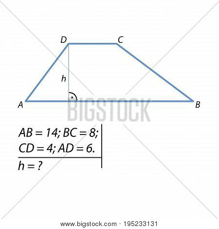 the problem of finding the height of the trapezoid