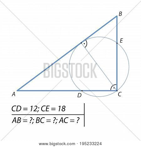 the problem of finding the legs of a right triangle