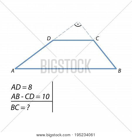 the problem of finding at the side of the trapezoid