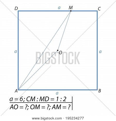 Task for calculating all sides of a triangle
