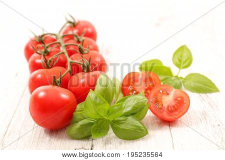tomato grape with basil