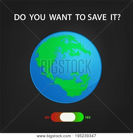 save earth and save environment background graphic vector