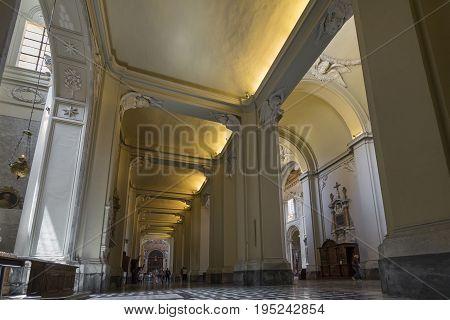 Basilica di San Giovanni in Laterano (St. John Lateran basilica) in Rome. Interior. Italy Rome June 2017