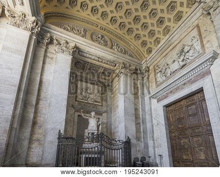 Basilica di San Giovanni in Laterano (St. John Lateran basilica) in Rome. The official ecclesiastical seat of the pope. Italy Rome June 2017