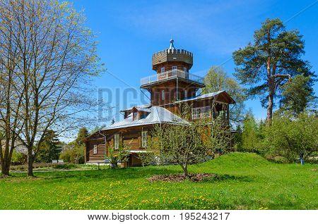 ZDRAVNEVO BELARUS - MAY 18 2017: Museum-estate of great Russian artist I.E.Repin