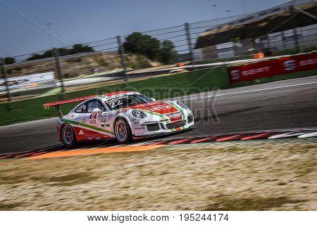 Vallelunga, Rome, Italy. June 24 2017. Italian Porsche Carrera Cup Daniele Cazzaniga Racing Driver