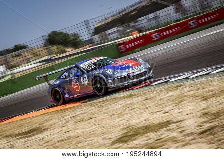 Vallelunga, Rome, Italy. June 24 2017. Italian Porsche Carrera Cup Gianmarco Quaresmini Racing Drive