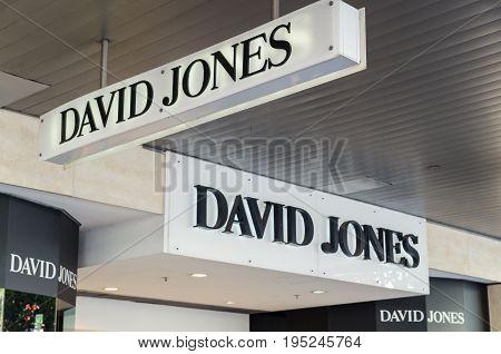 Melbourne, Australia - February 23, 2017: David Jones is an Australian premium department store chain. This is the flagship Bourke Street store.