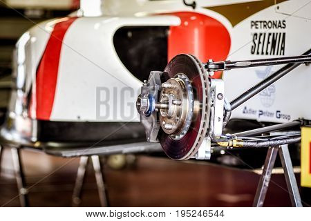 Vallelunga, Rome, Italy. June 24 2017. Italian Formula 4 Championship, Prema Power Team Car In Pit W