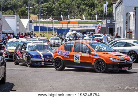 Vallelunga, Rome, Italy. June 24 2017. Italian Super Cup Championship Cars Alignement In The Paddock