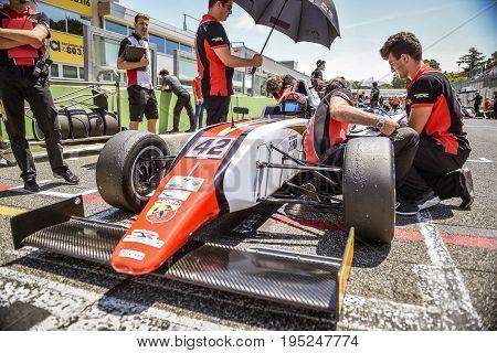 Vallelunga, Rome, Italy. June 24 2017. Italian Formula 4 Abarth Championship. Driver Artem Petrov On