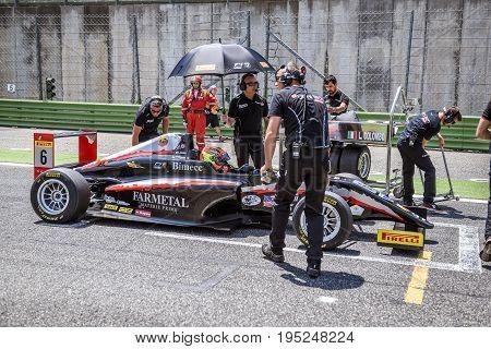 Vallelunga, Rome, Italy. June 24 2017. Italian Formula 4 Abarth  Championship, Lorenzo Colombo Drive
