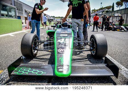 Vallelunga, Rome, Italy. June 24 2017. Italian Formula 4 Abarth Championship, Ian Rodriguez Driver B