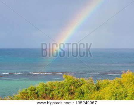 A rainbow over the sea at Augusta, near the south-western tip of Australia.