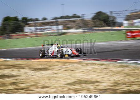 Vallelunga, Rome, Italy. June 24 2017. Italian Formula 4 Abarth Championship, Driver Aldo Festante D