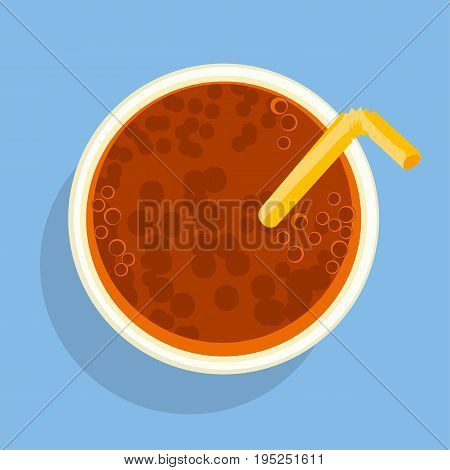 coca beens beverage flat style poster. food snack vector illustration. Eating fast food. Isolate. Cartoon style. Stock vector illustration
