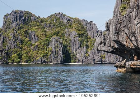 Waterscape in El Nido, Bacuit bay, Palawan island, Palawan province, Philippines