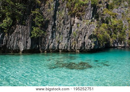 Waterscape in El Nido,Bacuit bay, Palawan island, Palawan province, Philippines