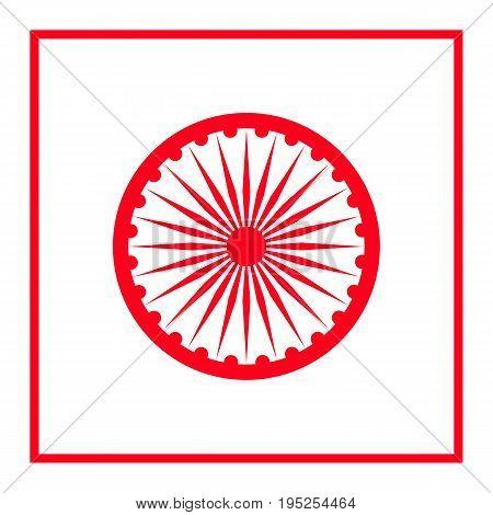 Ashoka Wheel Icon