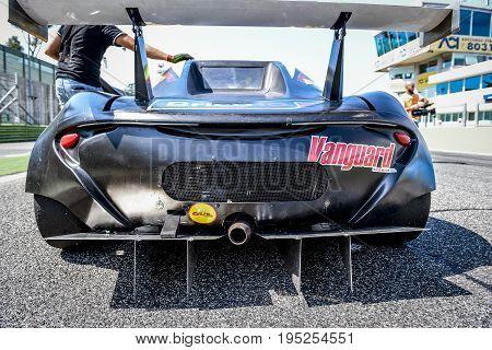 Vallelunga, Rome, Italy. June 24 2017. Italian Super Cup, Black M Car Prototype, Rear View