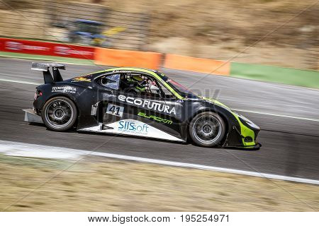 Vallelunga, Rome, Italy. June 24 2017. Italian Super Cup, Black M Car Prototype In Action