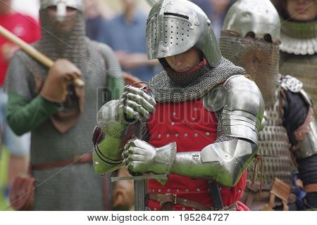 Saint Petersburg, Russia - July 13, 2017: III Historical and Cultural Festival