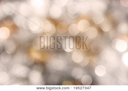 sparkly holiday blurry background - gold and silver