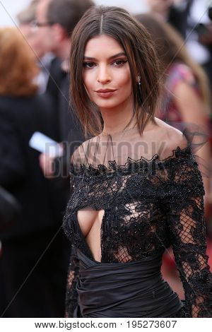 CANNES, FRANCE - MAY 18, 2017: Emily Ratajkowski attends the 'Loveless (Nelyubov)' screening during the 70th annual Cannes Film Festival