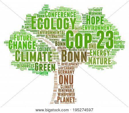 COP 23 in Bonn illustration concept, Germany