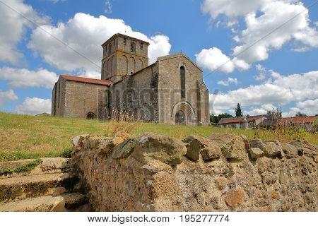 Vieux Pouzauges Church in Pouzauges, Vendee, France