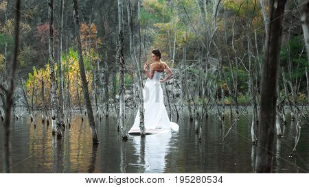 Sup Girl Bride Stand Up Paddleboard 06