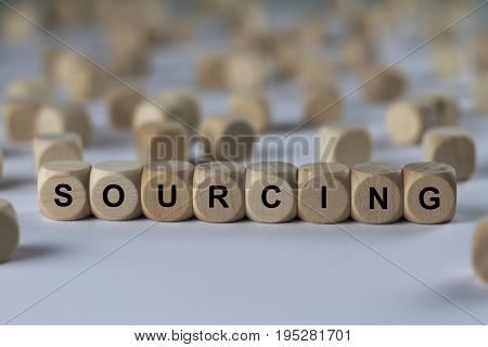 Sourcing - Image With Words Associated With The Topic Recruiting, Word, Image, Illustration