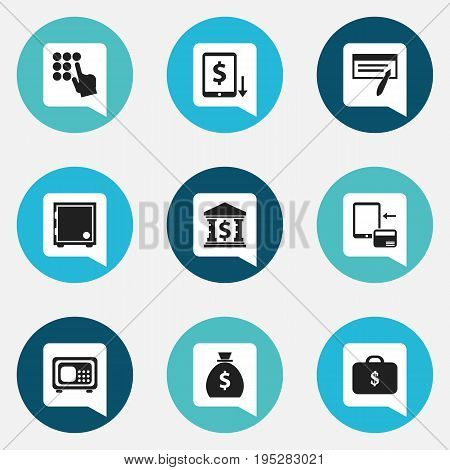 Set Of 9 Editable Investment Icons. Includes Symbols Such As Transaction, Bill, Entering Password And More. Can Be Used For Web, Mobile, UI And Infographic Design.