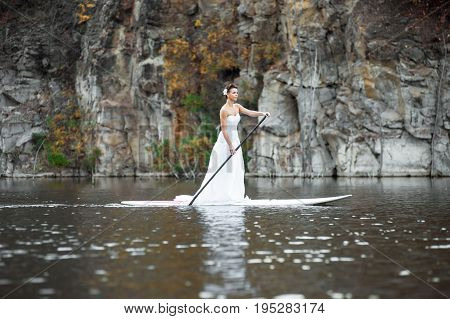 Sup Girl Bride Stand Up Paddleboard 12