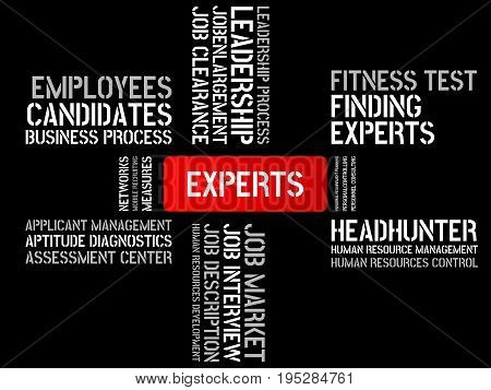 Experts - Image With Words Associated With The Topic Recruiting, Word, Image, Illustration