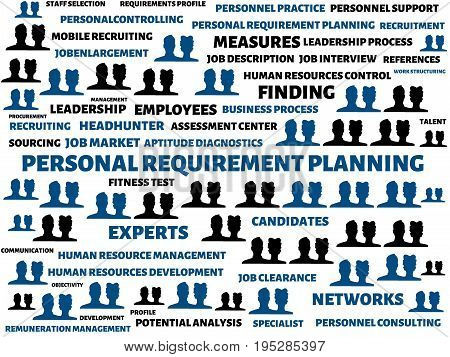 Personal Requirement Planning - Image With Words Associated With The Topic Recruiting, Word, Image,