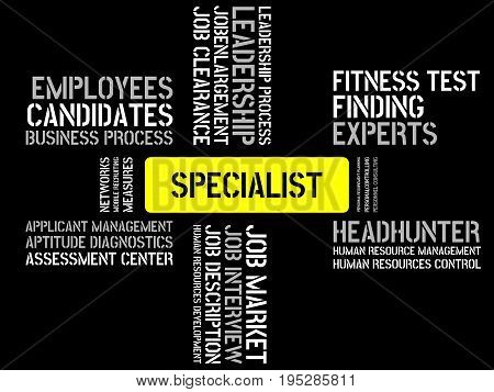 Specialist - Image With Words Associated With The Topic Recruiting, Word, Image, Illustration