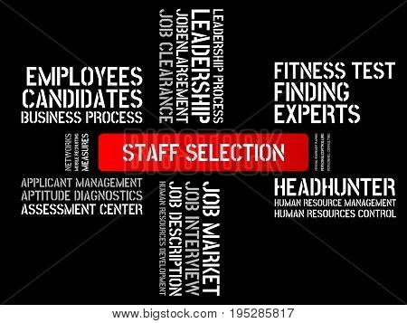 Staff Selection - Image With Words Associated With The Topic Recruiting, Word, Image, Illustration