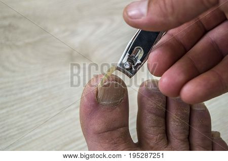 Personal care pictures, cut toe nail, cut nail scissors and toenails